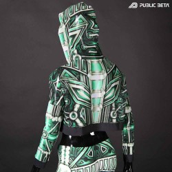 Plazma Heart Top by Public Beta Wear Blacklight Psytrance Fashion