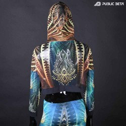 Fractal Star Mash Top by Public Beta Wear Blacklight Psytrance Fashion