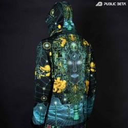 Innerverse Blacklight Psytrance Sweater by Public Beta Wear