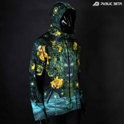 Innerverse UV D140 Hooded Sweater / Glow in Blacklight Digital Print