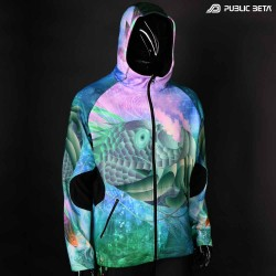 Transision of Dimensions Blacklight Sweater Full Print