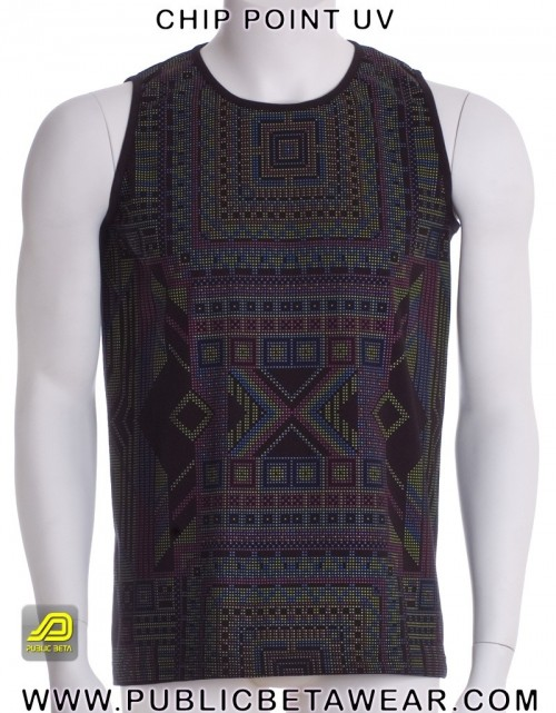 ChipPoint UV D53 - Psychedelic Sleeveless Shirt by Public Beta Wear