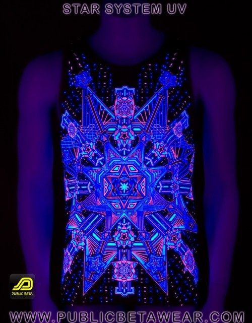 Star System UV D61 - Sleeveless T-Shirt by Public Beta Wear
