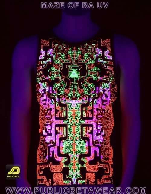 Maze of Ra UV D63 - Sleeveless T-Shirt by Public Beta Wear