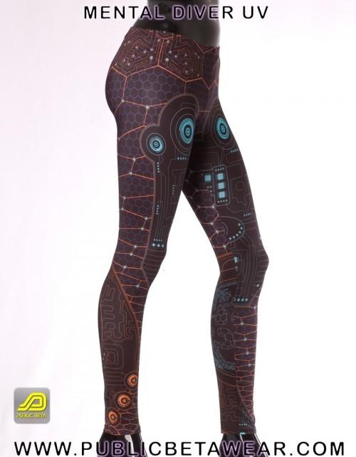Mental Diver UV D10 - Leggings by Public Beta Wear