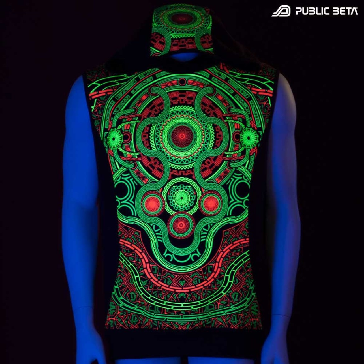 UV reactive printed vests
