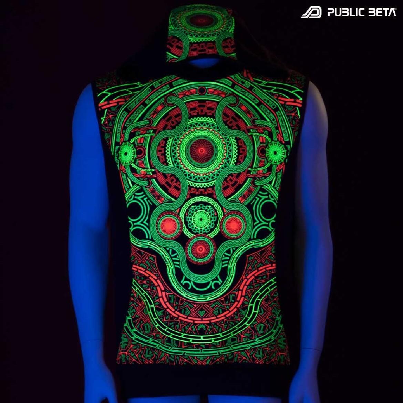UV reactive printed vests