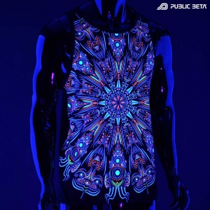 Blacklight Active Psychedelic Slevveless Shirt