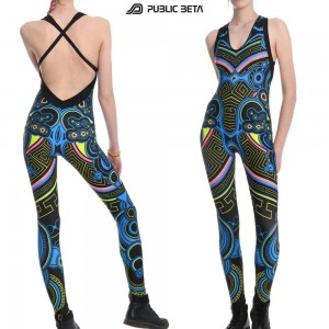 Blacklight reactive costumes for performances